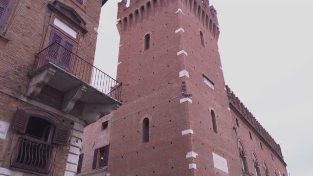 Architectural detail of the Palazzo del Municipio in Ferrara in Italy 6
