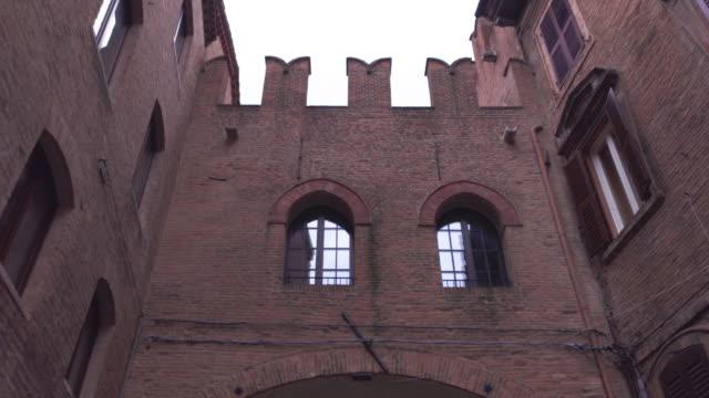 Architectural detail of the Palazzo del Municipio in Ferrara in Italy 4