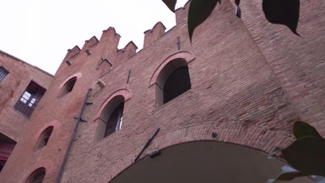 Architectural detail of the Palazzo del Municipio in Ferrara in Italy 5