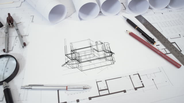 Architectural drawing concept - vídeo