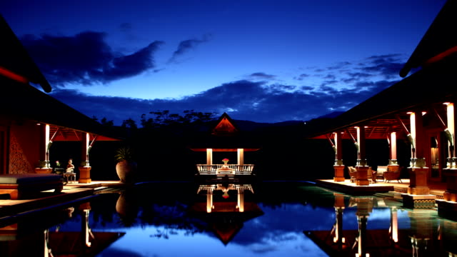 Architectural Dusk in Chiang Mai Thailand video