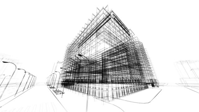3d architecture abstract - black and white architecture stock videos & royalty-free footage