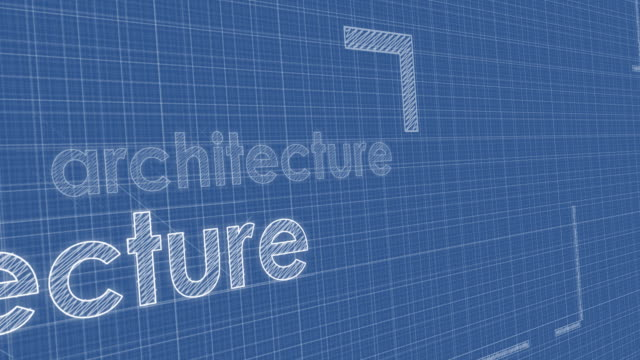 architecture blueprint perspective, loop video