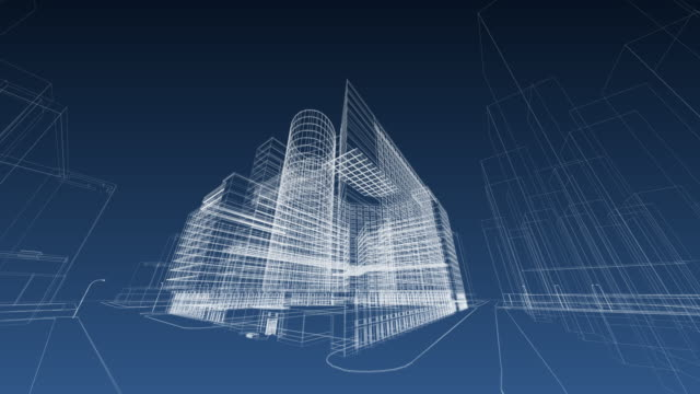 architecture blueprint - contemporary architecture stock videos & royalty-free footage