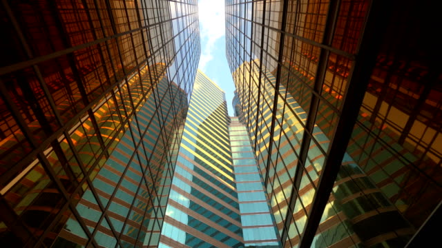 architecture construction futuristic building. office buildings - abstract architecture стоковые видео и кадры b-roll