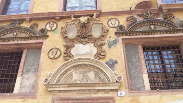 Architecture detail of buildings in Piazza dei Signori in Verona
