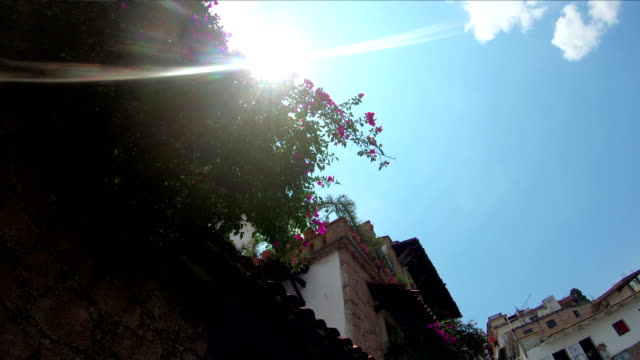 architecture of taxco, mexico. the town is known because of its silver products - guerrero video stock e b–roll
