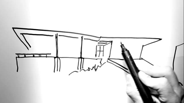 architecture on paper - black and white architecture stock videos & royalty-free footage