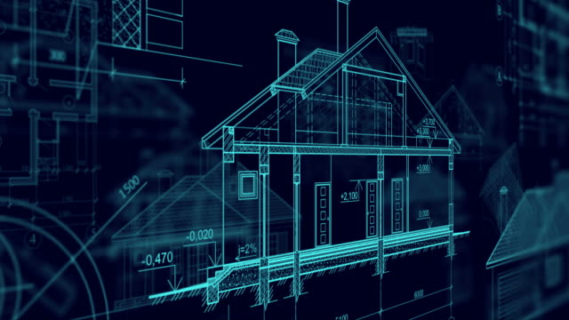 Architecture plans  blueprint stock videos & royalty-free footage