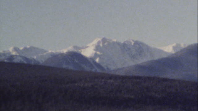 Archival 8mm footage of Rocky Mountains 01 video