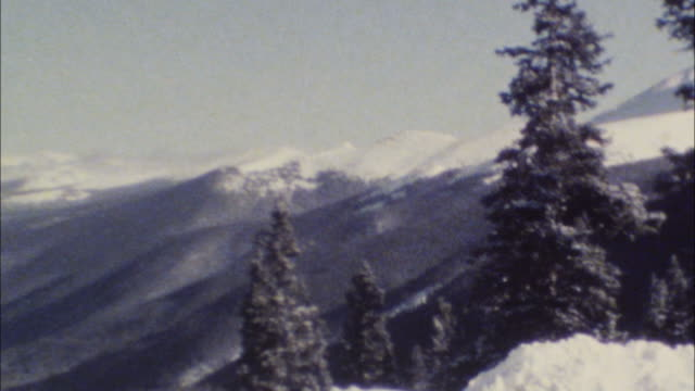 Archival 8mm footage of Rocky Mountains 02 video