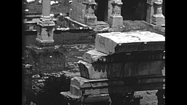 archival roman forum in rome - colosseo 1900 video stock e b–roll