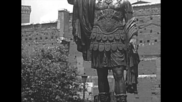 archival statue of Marco Cocceio Nerva Caesar Augustus in Rome video