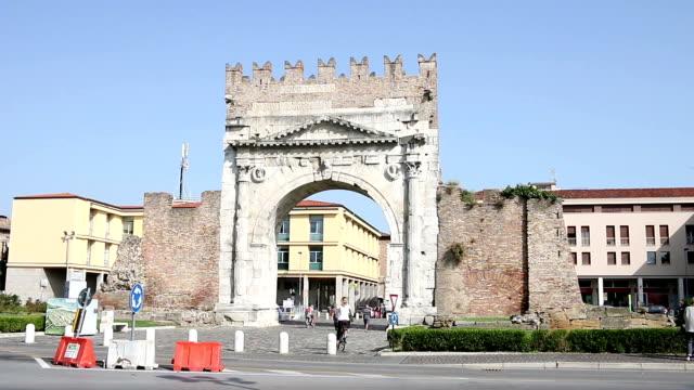 Arco di Augusto Rimini Italy video