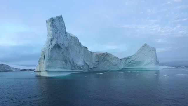 Arctic Icebergs Greenland in the arctic sea.