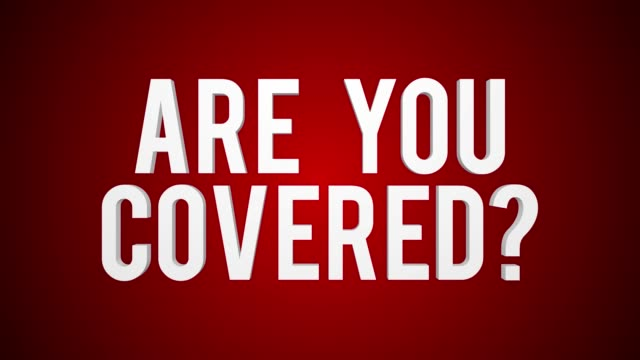 Are you covered and travel insurance  concept animation set.