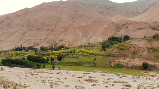 Areal Dron Shoot View of the Pamir, Afghanistan and Panj River Along the Wakhan Corridor. video