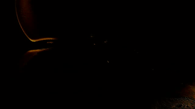 Areal View of Lights Around a Dark Bay video