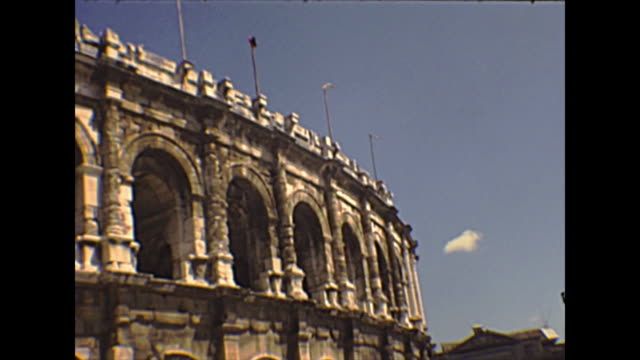 arena of nimes - colosseo 1900 video stock e b–roll