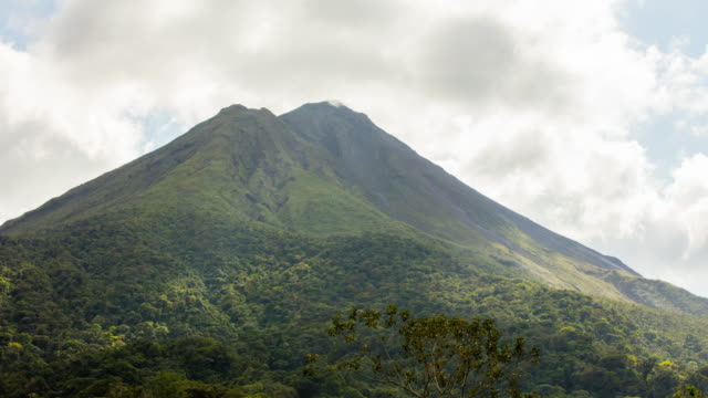 T/L 8K Arenal volcano in clouds video