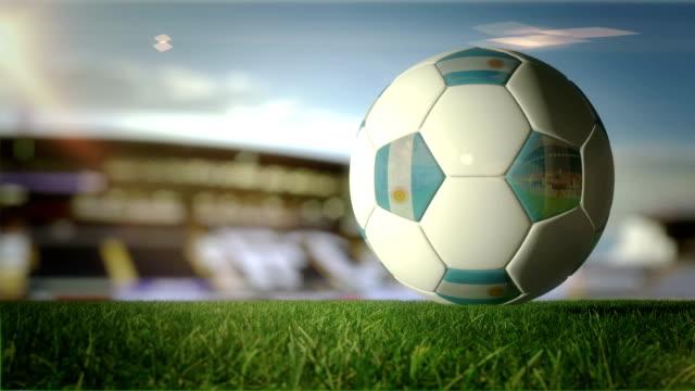 Argentian Ball gire en Stadium-en bucle - vídeo