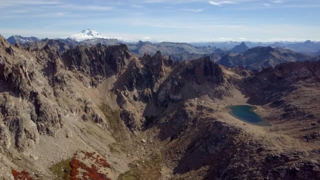 Argentina Cerro Catedral in fall, Cerro Tronador in the background video