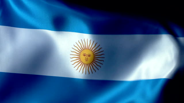 Argentina Flag Flapping