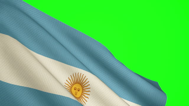 Argentina Flag green screen video