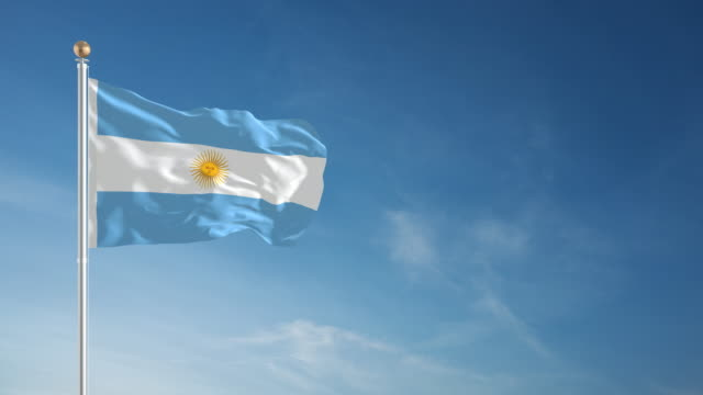 4K Argentina Flag - Loopable video