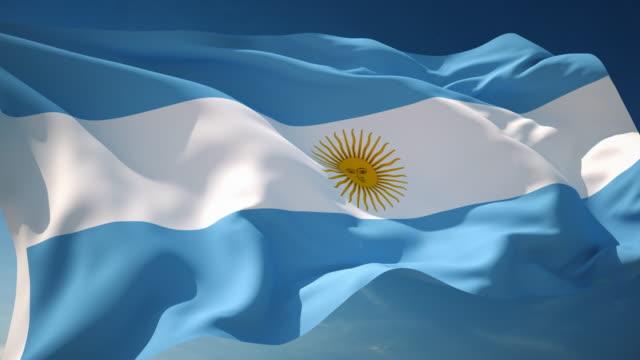 4 K Argentina Flag-en bucle - vídeo