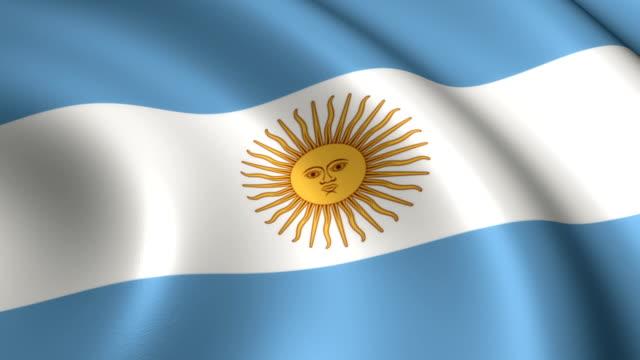Bandera Argentina Loopable - vídeo