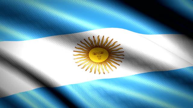 Bandera de Argentina. Animación bucle sin fisuras. 4K Video de alta definición - vídeo