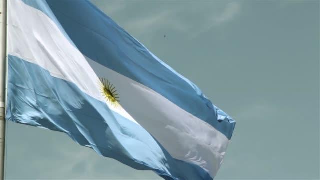argentina flag. - bandiera dell'argentina video stock e b–roll