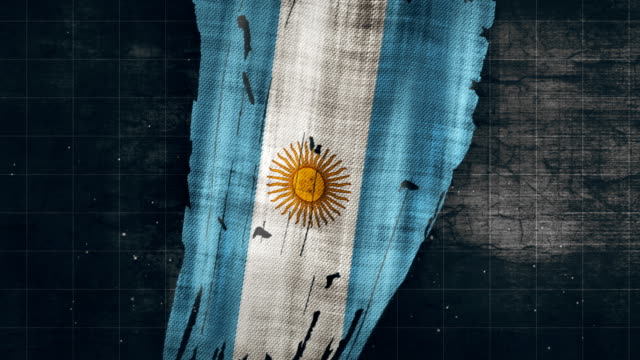 4K Argentina Grunge bandera - vídeo