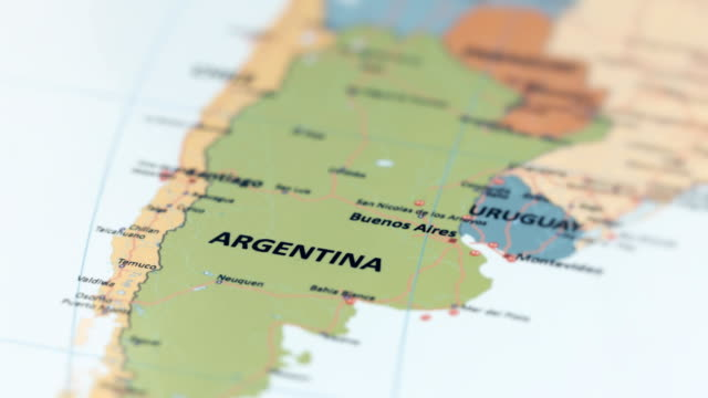 south america argentina on world map - south america travel stock videos and b-roll footage