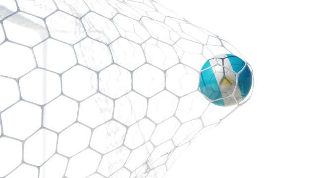 Argentino bola de los puntajes en cámara lenta - vídeo