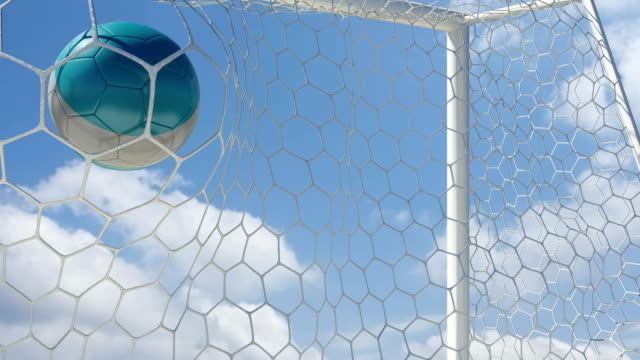 Argentinian Ball Scores with Sky Background video