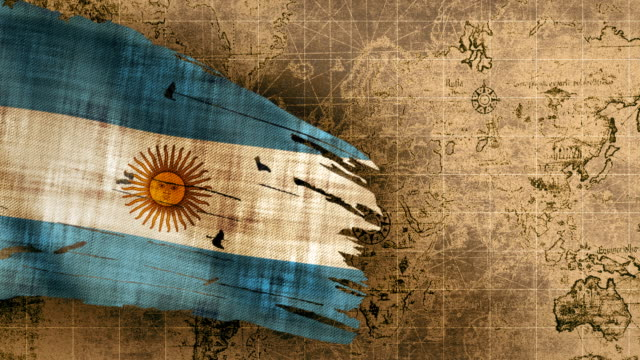 Bandera Argentina de 4 K Loopable - vídeo
