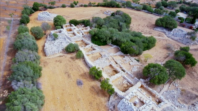 Arial View of Capocorb Vell is a talayotic site on Balearic islands Majorca / Spain video