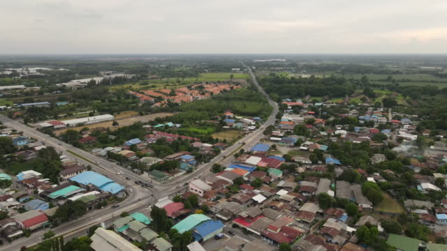 Ariel view of small country