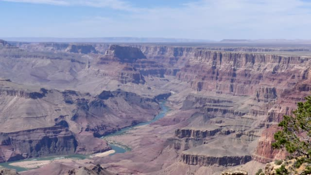 Arizona, Grand Canyon, A view of the Colorado River at the bottom of the Grand Canyon
