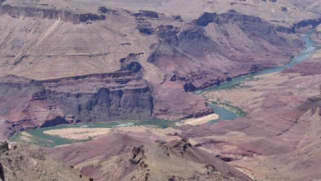 Arizona, Grand Canyon, The Colorado River with flowing water and rapids