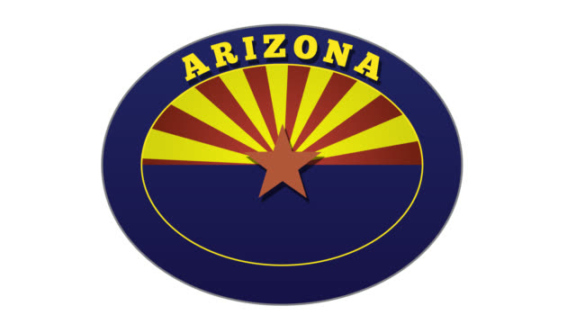 Arizona Travel Sticker Sequence