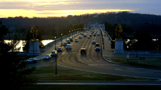 Arlington Memorial Bridge at Dusk
