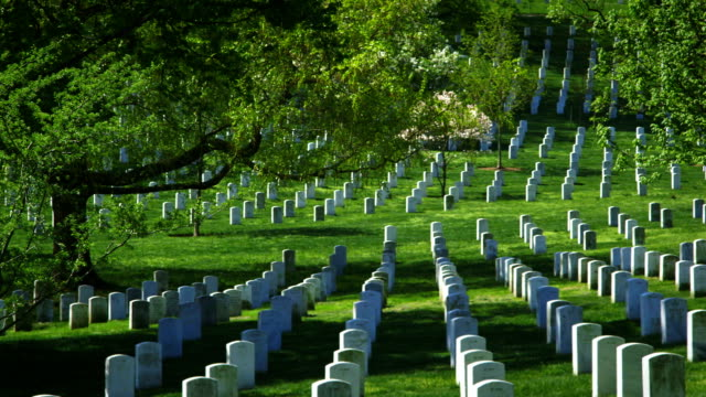 Arlington National Cemetery in Spring Extra Wide Pan video