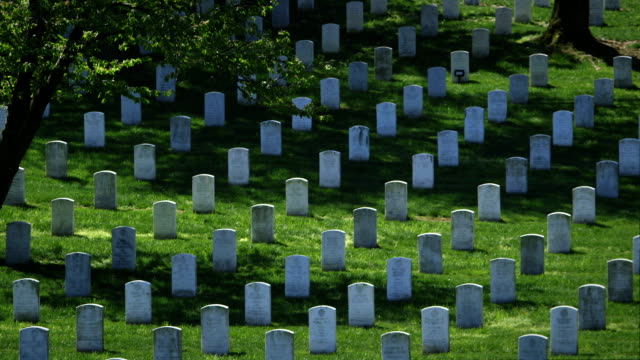 Arlington National Cemetery in Spring Wide Pan video
