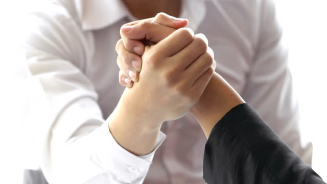 Arm wrestling Business in office video