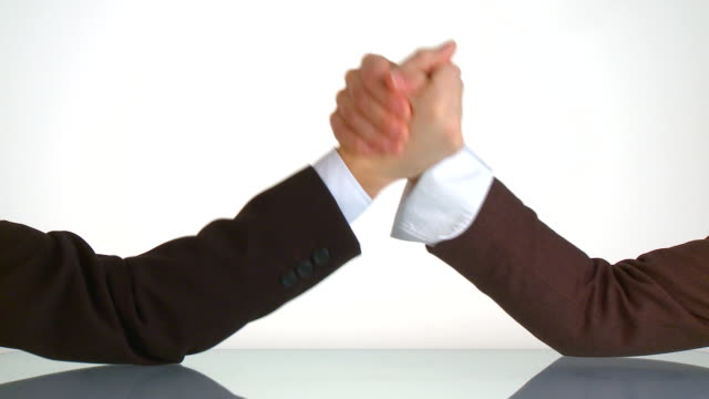 arm wrestling thumb up video