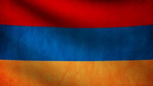 Armenia flag. video