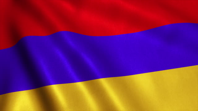 Armenia Flag Video Loop - 4K video